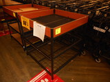 3'X3' 3-SHELF MOBILE DISPLAY TABLE