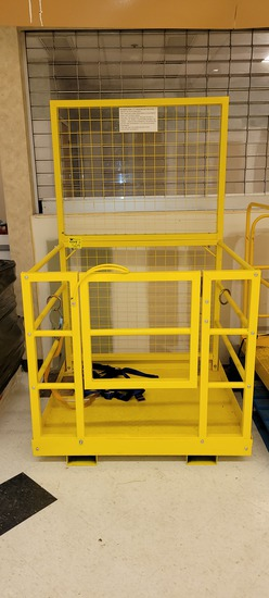 """FORKLIFT CAGE WITH HARNESS 45"""" X 43"""" X 42"""""""
