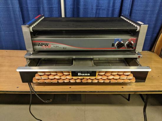 Hot Dog Roller Grill and Bun Warmer