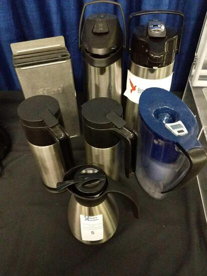 Assorted Coffee Carafes and Dispensers