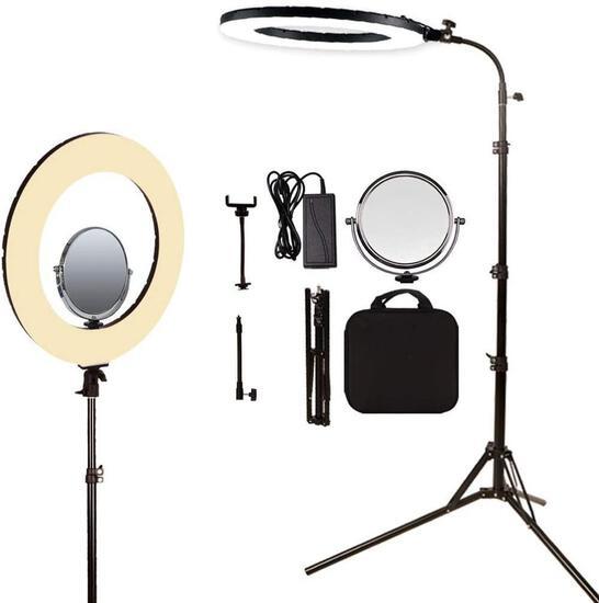 LED ring light makeup selfie