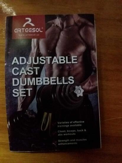 Adjustable cast dumbbell