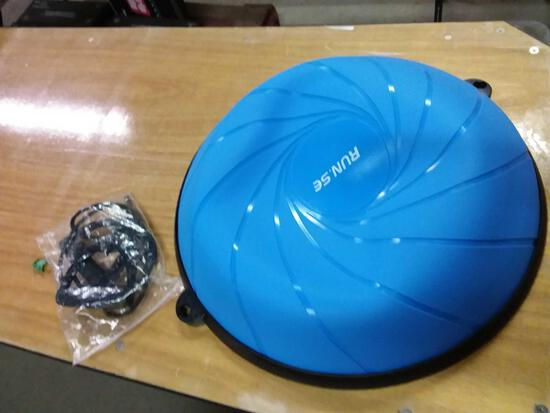 Half exercise ball stabilizer