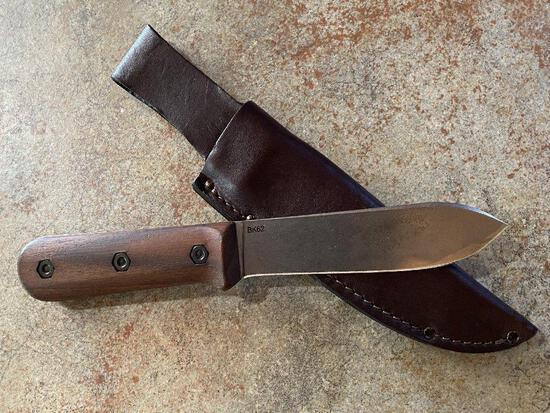 Becker Knife and Tool ? Horace Kephart Edition? Kabar Skinning Knife w/leather sheath