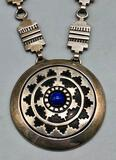 Superb Sterling Silver and Lapis Necklace