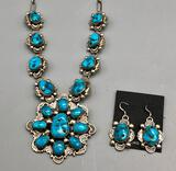 Fabulous Turquoise Necklace and Earring Set