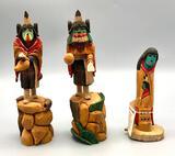 Three Nice Wood Carvings by Marvin Jim