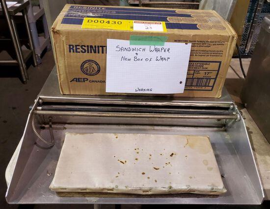 SANDWICH WRAPPER C/W NEW BOX OF WRAP