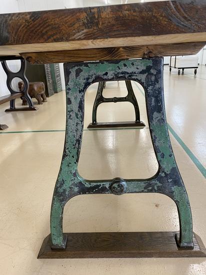 Live Edge Hardwood Industrial Style Table