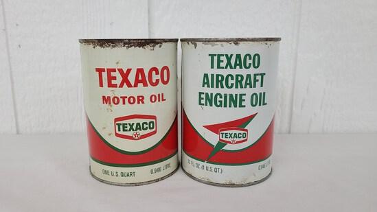 Texaco Aircraft Oil Can Metal