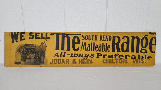 """""""The Southbend Mallable Range"""" Cardboard Sign"""