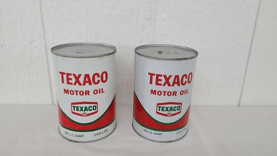 Texaco Oil Cans Nos Full