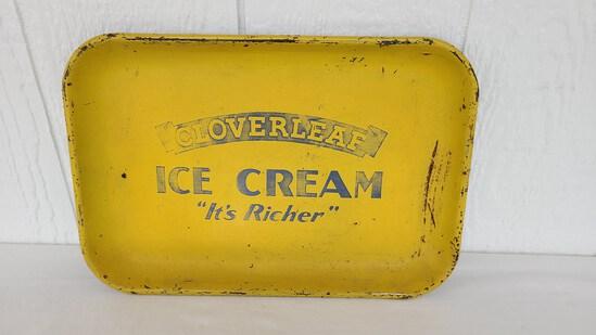 Cloverleaf Ice Cream Serving Tray