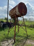 500 Gallon Fuel Tank with stand