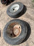 (2) 295/75R22.5 Tires and Rims