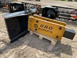 2021 AGROTK SSHH680 Hydraulic Hammer (Skid Steer Attachment)