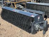 JCT 72? Skid Steer Angle Broom Skid Steer Attachment
