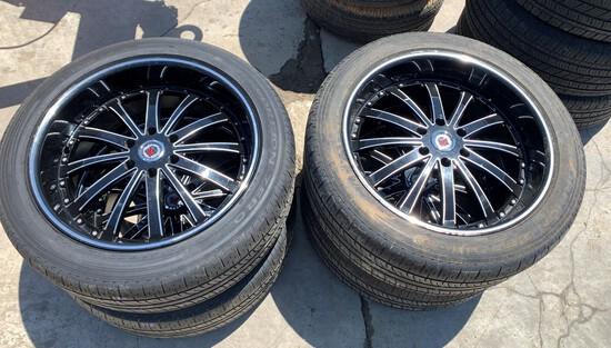Set of 4 RS Wheels & Pirelli Tires