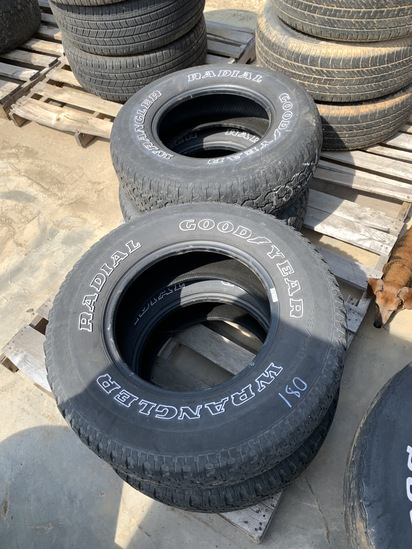 Set of 4 235/75R15 Goodyear Tires