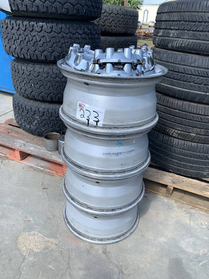 """(4) 18"""" Ford Aluminum Wheels with center caps"""