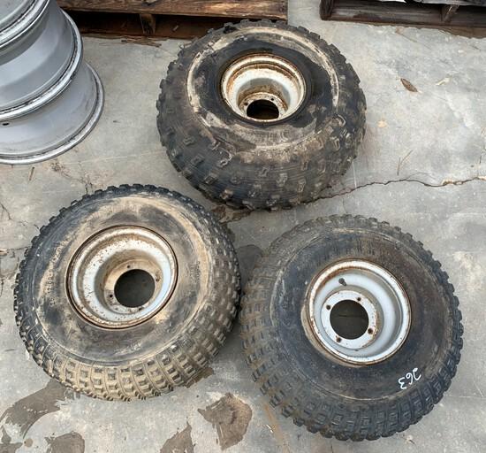 """3 Wheeler Rims & Tires 9"""""""