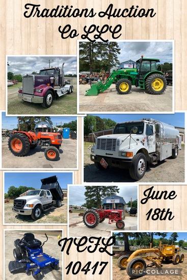 Traditions Auction Co LLC June Equipment