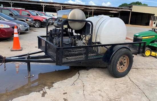 Landa Pressure Washer and Tank on Utility Trailer