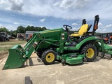John Deere 1026R 4x4 with attachments