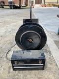 Hose Reel & Small Black Tool Box