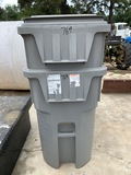 2 Rolling Trash Cans with Lids