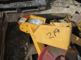 Assorted Reels of Wire, Hose Reel & Terex Headlights & Supports