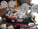 (2) 25GX Gauges (Harris), (2) 460A Gauges (Victor), Assorted Torches, Assorted Grinder Wheels