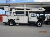 1999 International 4700 Cab & Chassis Aerial Truck with Utility Body