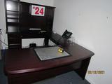 Executive Desk, Bridge, Credenza & Overhead Hutch