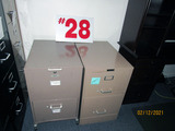 (2) 2-Drawer Filing Cabinets