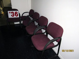 (5) Upholstered Office Chairs