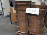 (2) Pallets Cardboard Box Material