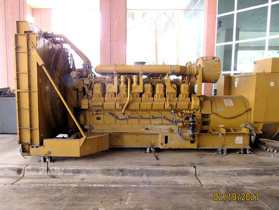 Caterpillar 3500 Diesel Powered 1,750KW Emergency Generator