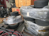 2 PALLETS OF ASSORTED LAWNMOWER TIRES & WHEELS