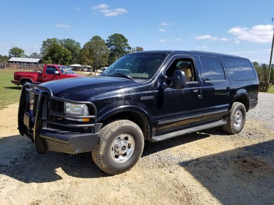 2003 FORD EXCURSION, AUTOMATIC, MILES SHOWING: 217,221, 3RD ROW SEAT, VIN: