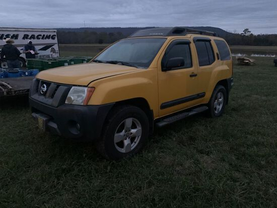 2007 NISSAN XTERRA, MILES SHOWING: 246,026, WILL CRANK AND DRIVE AROUND AS