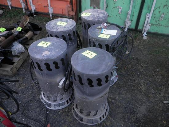 (5) Propane Heaters