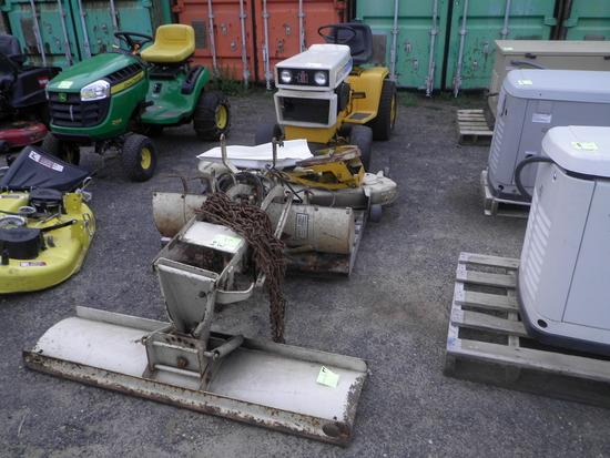 INTERNATIONAL Cub Cadet 1450 Hydrostactic Lawn Tractor w/Mower Deck, Rototiller, Plow
