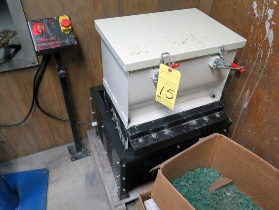 "VIBRATORY PARTS CLEANER, TUMBLE MDL. 180, 120 v., 12"" x 18"" box, w/addition"