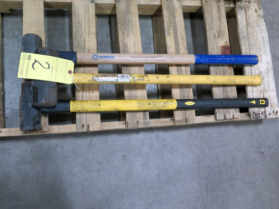 LOT OF SLEDGE HAMMERS (3)