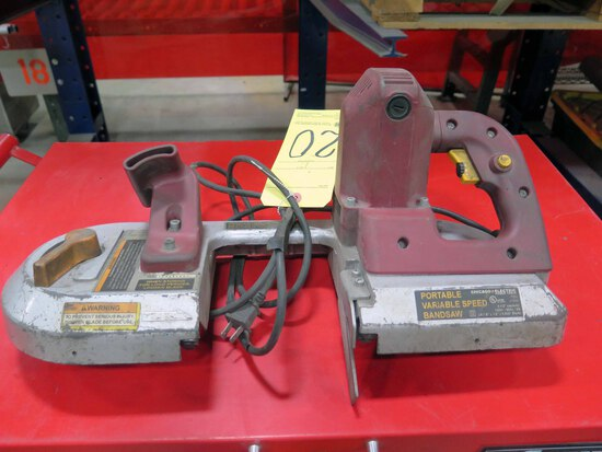 """PORTABLE VARIABLE SPEED BANDSAW, CHICAGO ELECTRIC, 4-1/2"""" cap."""
