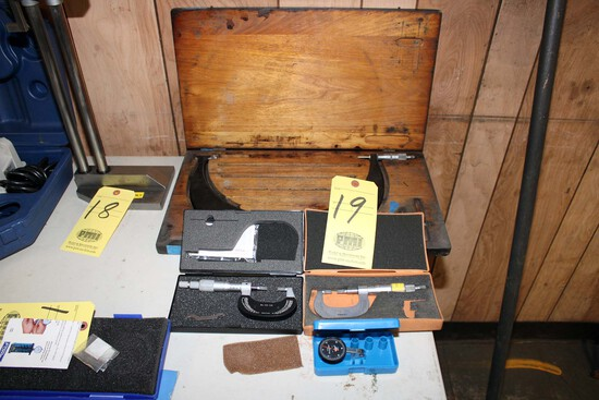 "LOT CONSISTING OF: (2) 0 to1"" blade micrometers, (1) Scherr Tumico 9"" to 12"