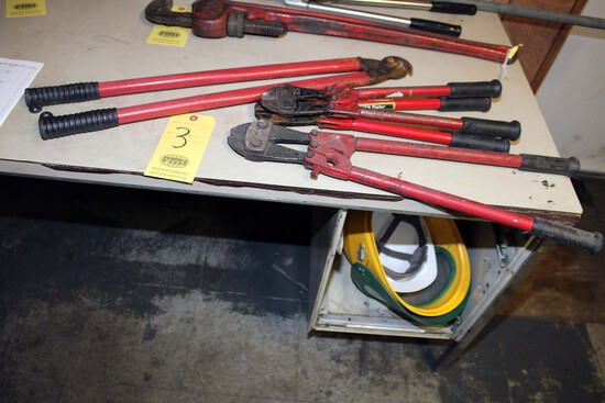 LOT CONSISTING OF: (3) No. 1 bolt cutters & (1) CIM 700 wire cutter