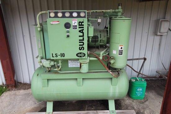 ROTARY SCREW AIR COMPRESSOR, SULLAIR MDL. LS-10, S/N 9450825-01264