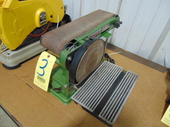 "COMBINATION BELT/DISC SANDER, CENTRAL MACHINERY, 4"" belt, 6"" disc"